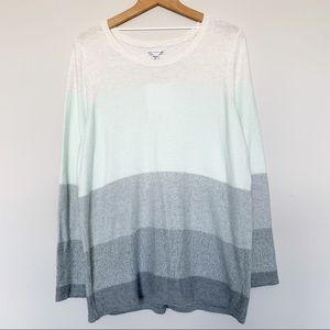 New! Croft & Barrow Color Block Sweater 1X